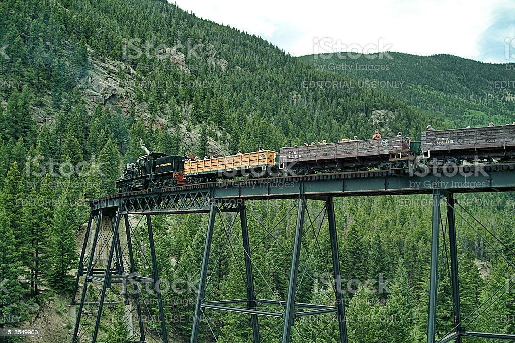 Trestle Bridge Continued stock photo