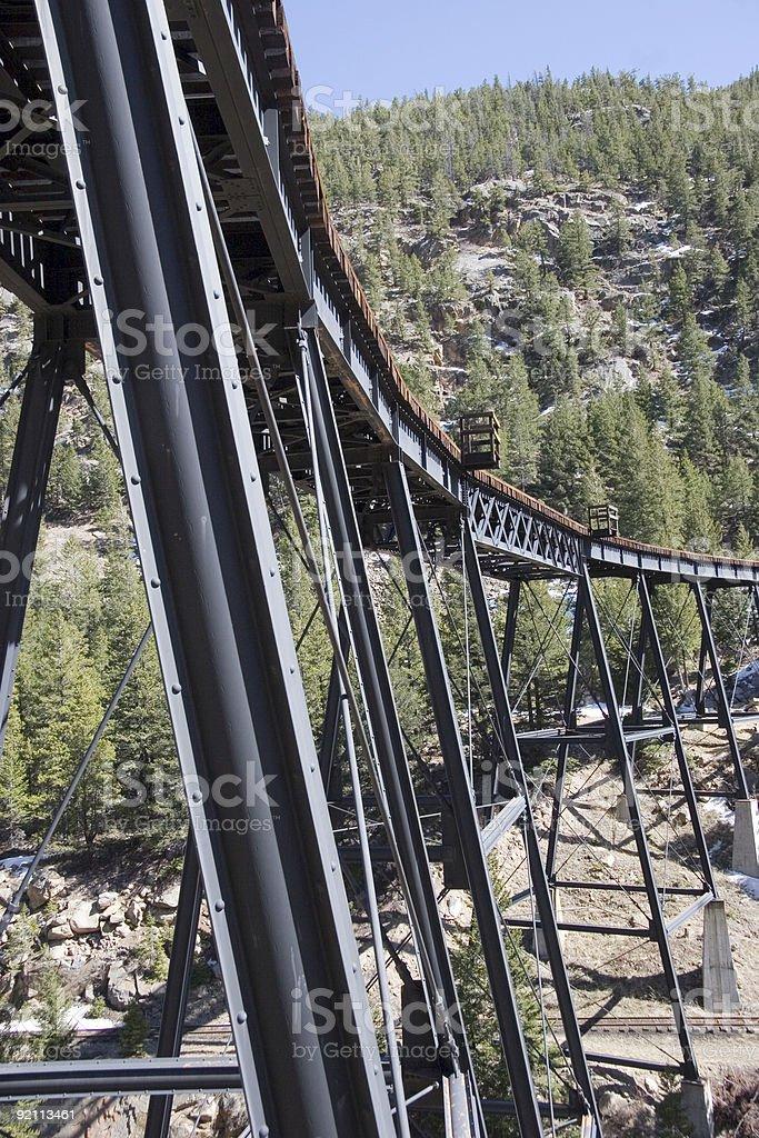 Trestle in Rockies - 2 royalty-free stock photo