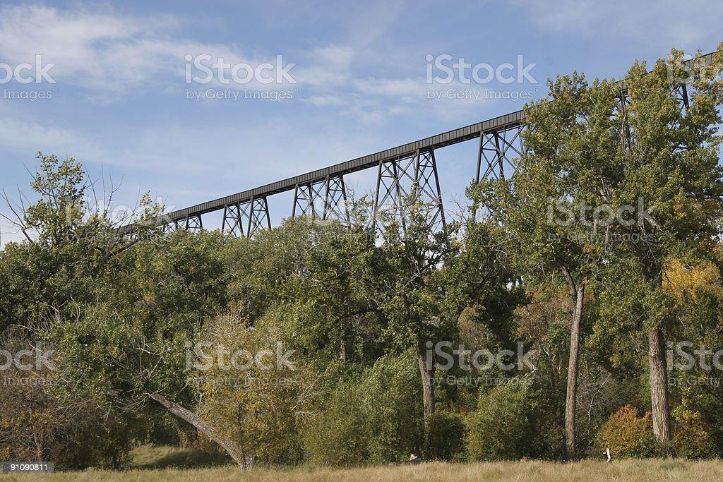Trestle train bridge stock photo