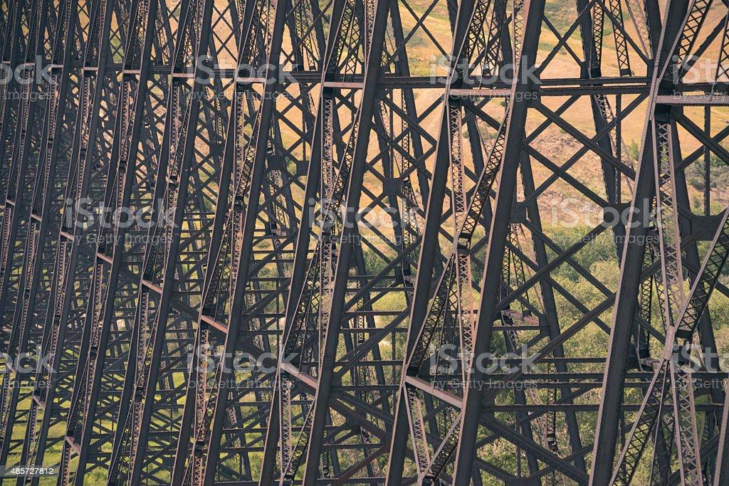 Trestles of High Level Bridge stock photo