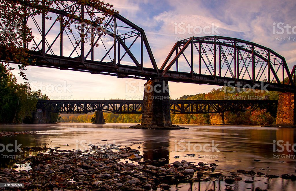 Trestles over the Delaware stock photo