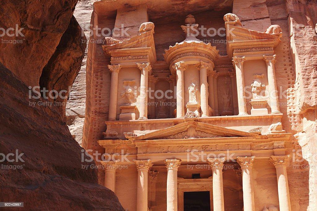 Tresury building in Petra Jordan royalty-free stock photo