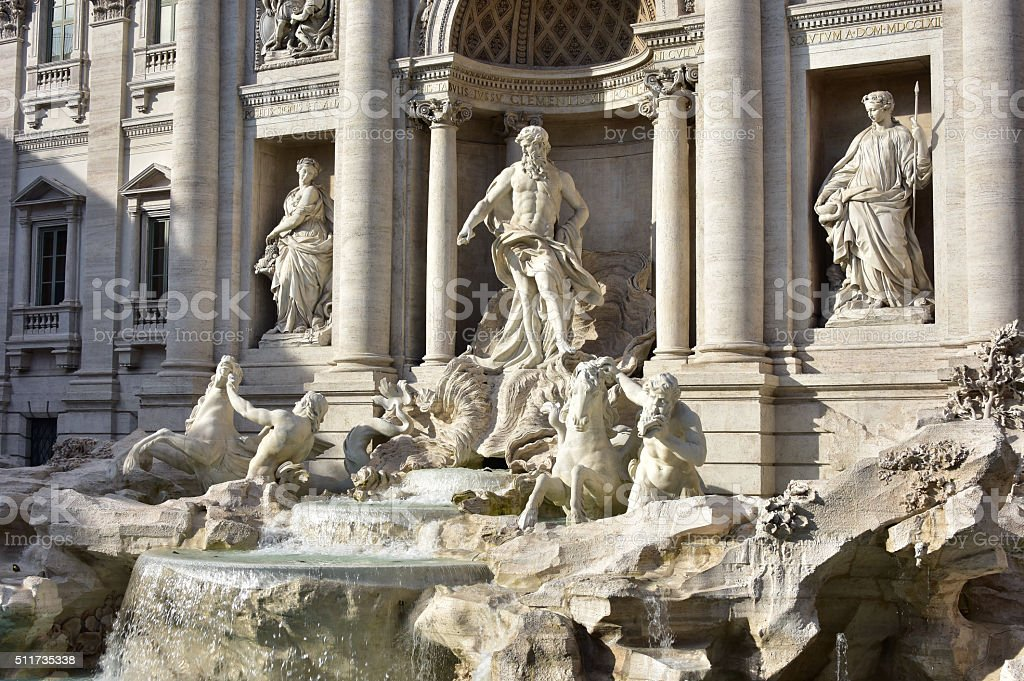 Trevi Fountain, a famous landmark in Rome stock photo