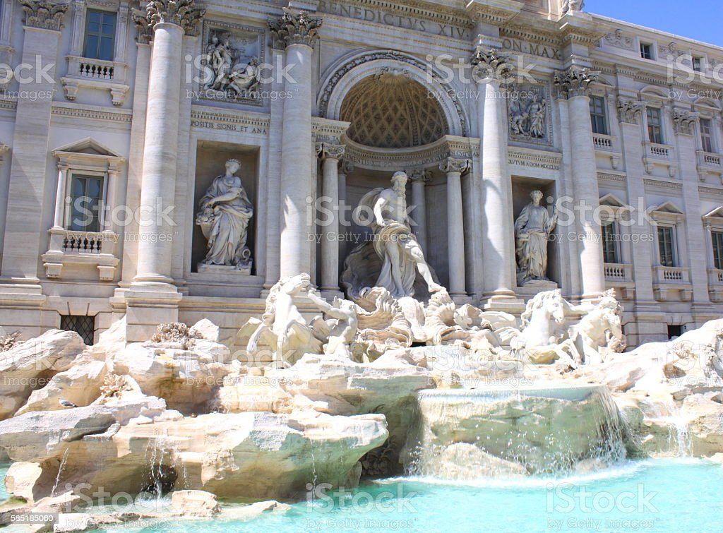 Trevi Fountain in Rome, Italy. Built in 1732-1762. stock photo