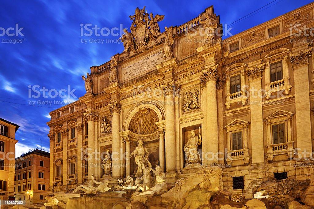 Trevi Fountain in Rome, Italy royalty-free stock photo