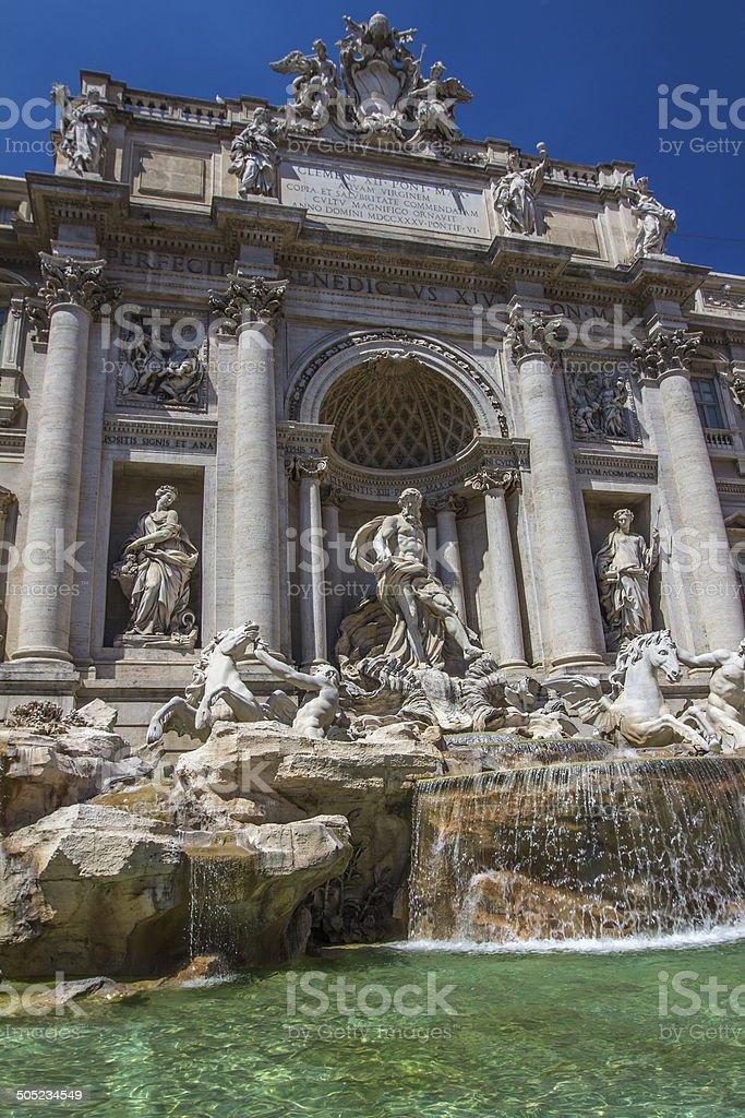 Trevi Fountain in Rome Italy stock photo