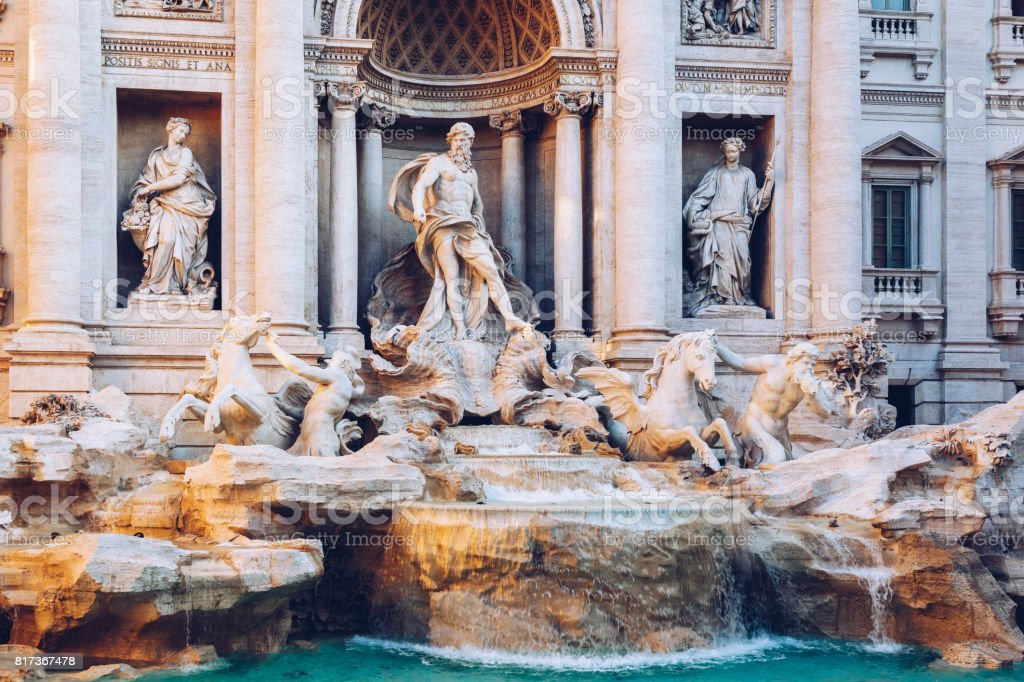 Trevi Fountain (Fontana di Trevi) in Rome. Italy stock photo