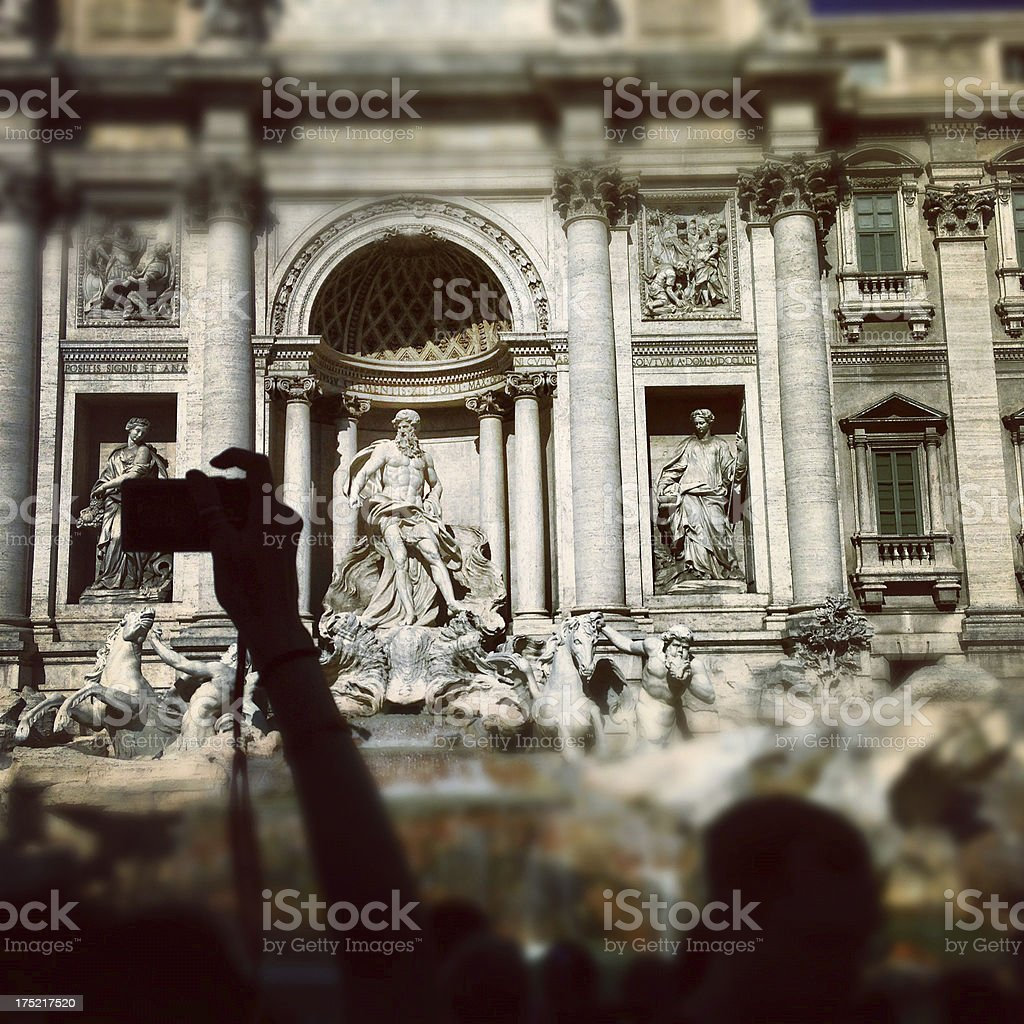 Trevi  Fountain in Rome shot with Iphone 5 stock photo