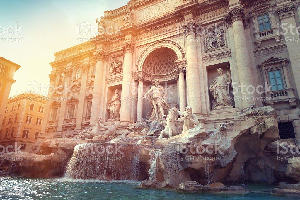 Trevi Fountain stock photo