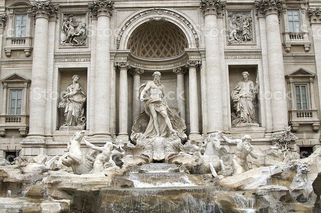 Trevi fountain royalty-free stock photo