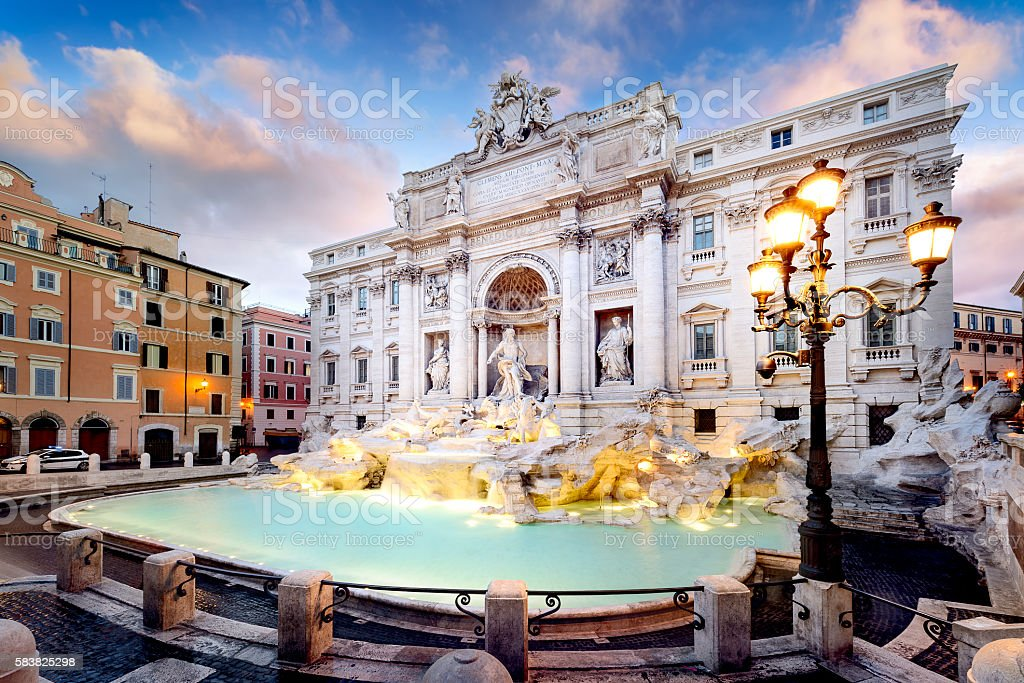 Trevi Fountain, rome, Italy. stock photo