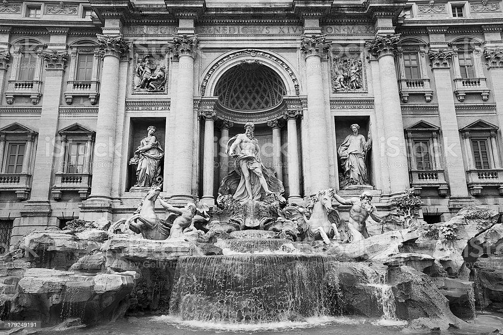 Trevi Fountain Rome royalty-free stock photo