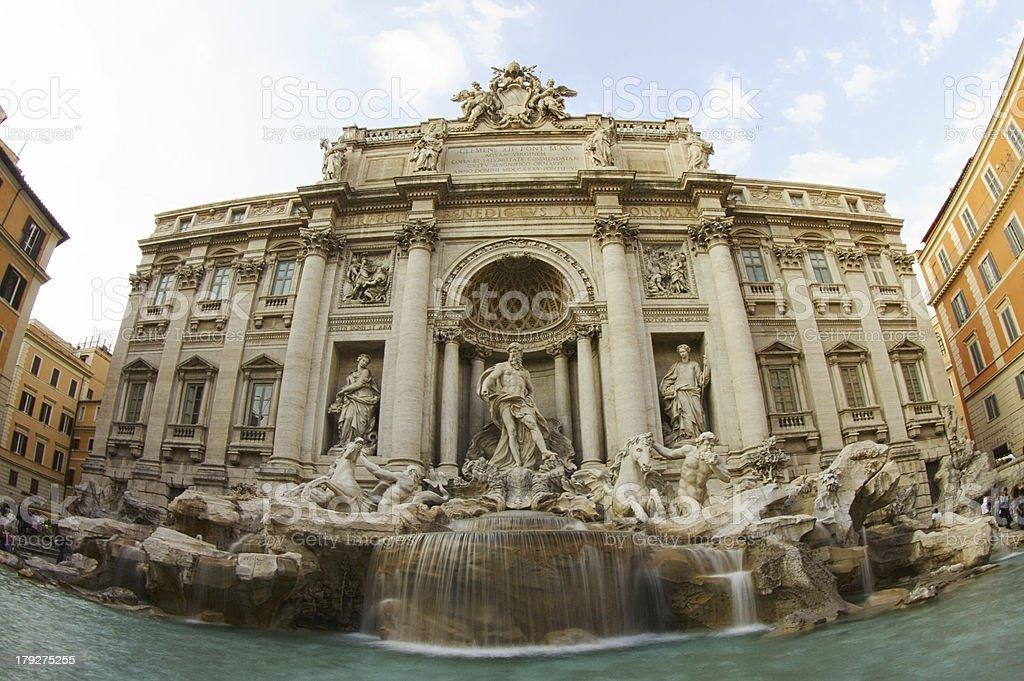 Trevi Fountain, Rome royalty-free stock photo