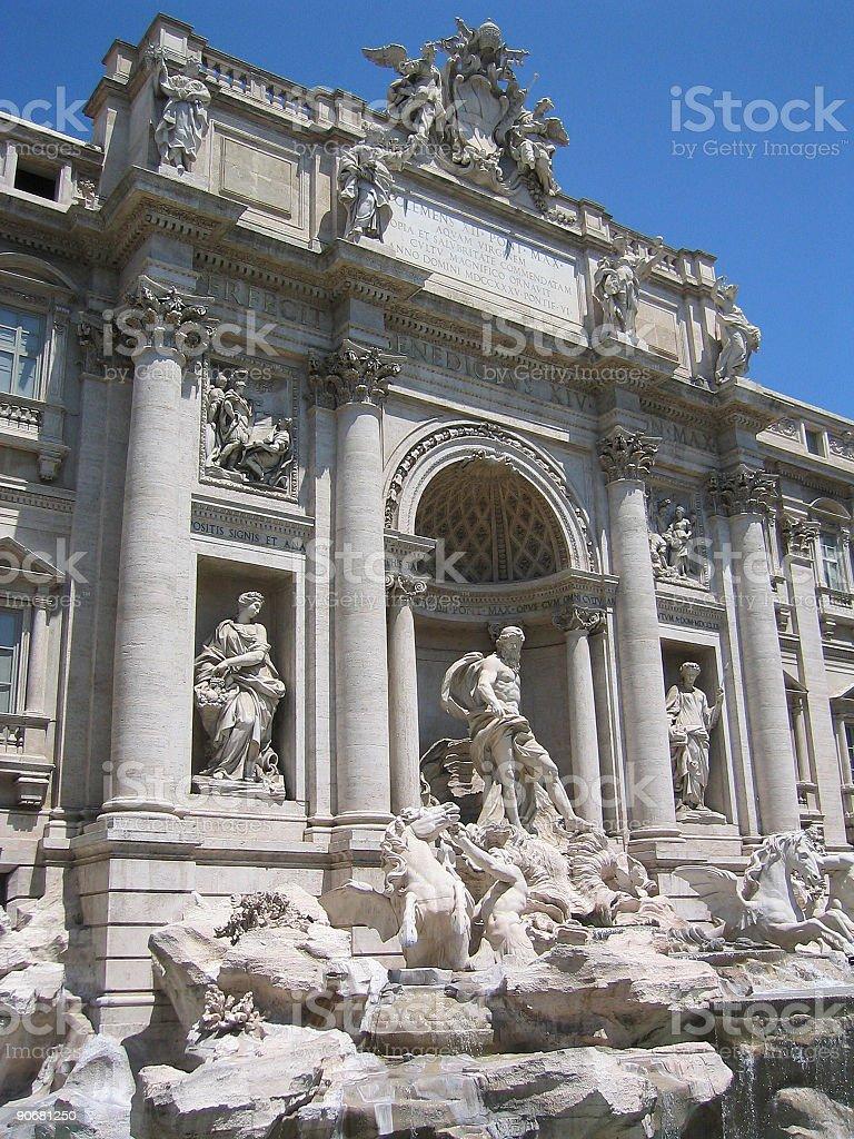 Trevi fountain - Rome royalty-free stock photo