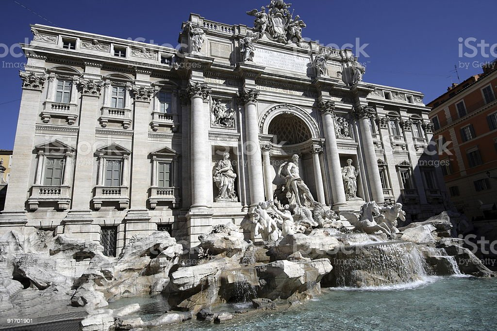Trevi royalty-free stock photo
