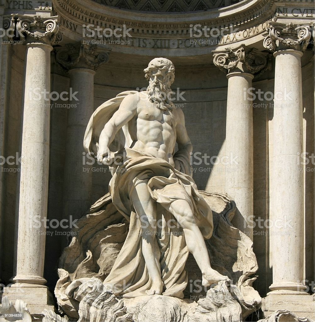 Trevi Sculpture royalty-free stock photo