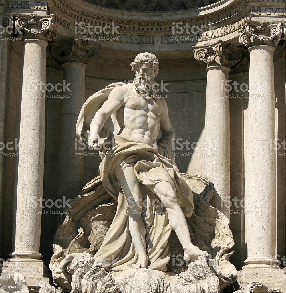 Trevi Sculpture stock photo
