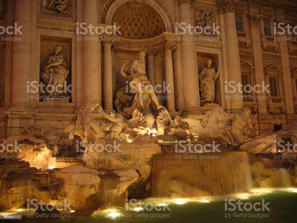 Trevi´s Fountain at night II royalty-free stock photo