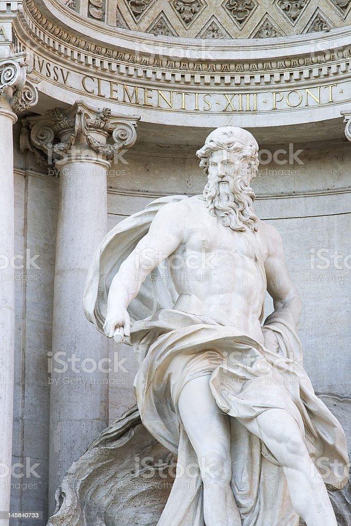 Trevi's Neptune stock photo