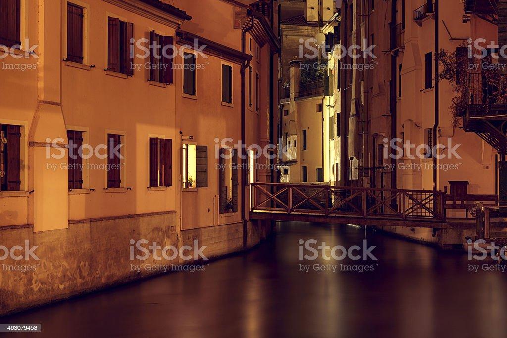 Treviso at night royalty-free stock photo