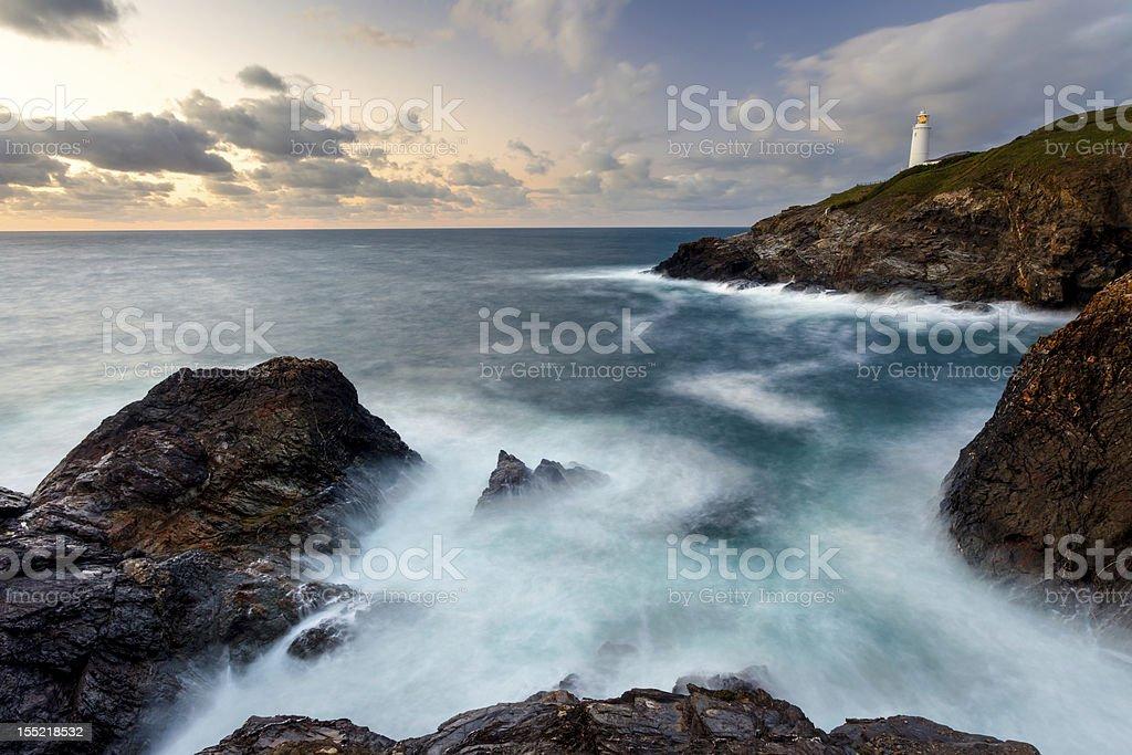 Trevose Head Cornwall stock photo