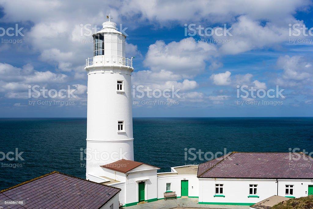 Trevose Head Lighthouse Cornwall stock photo