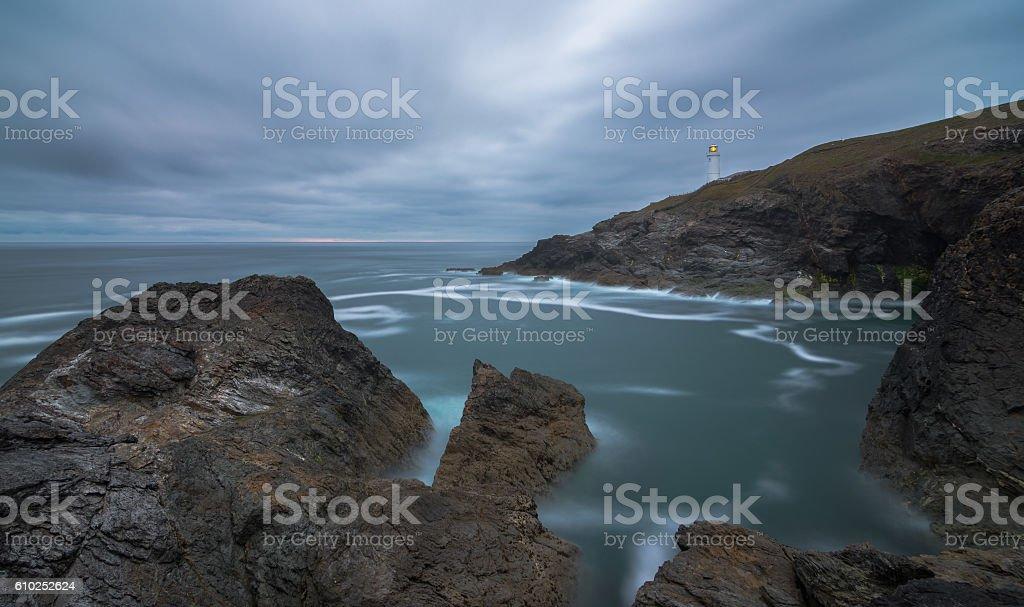 Trevose Head Lighthouse, Cornwall stock photo