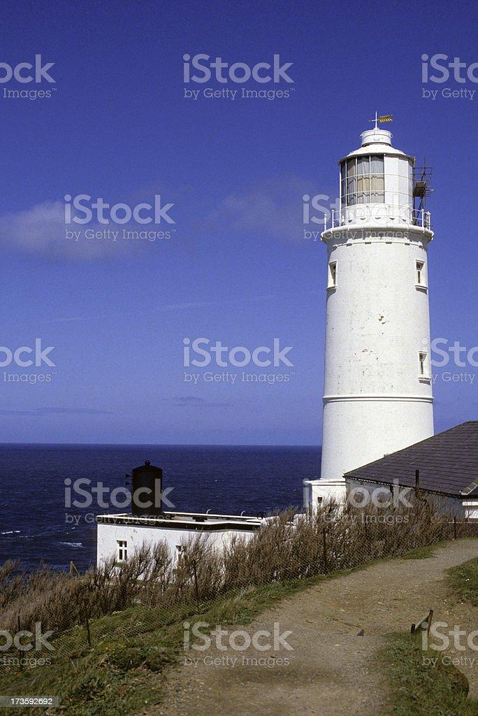 Trevose Head Lighthouse. stock photo