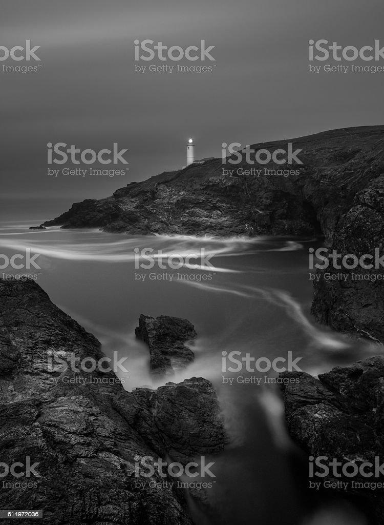 Trevose Head lighthouse stock photo