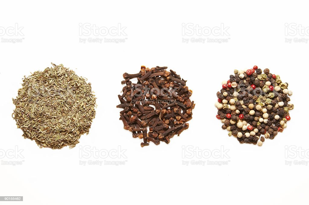 trhee kinds of spices royalty-free stock photo