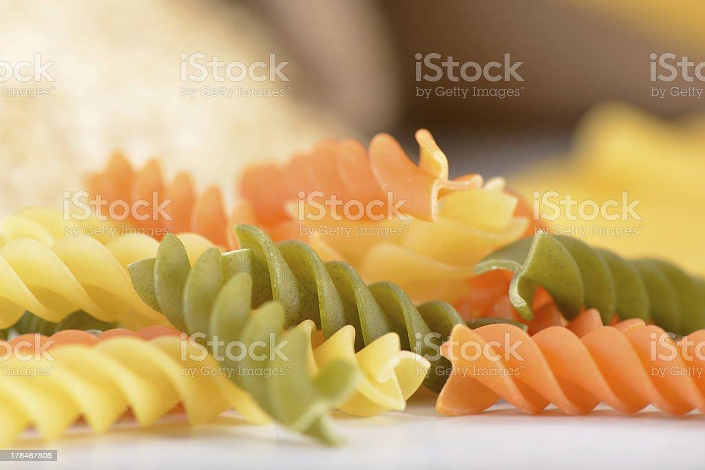 Tri Color Pasta royalty-free stock photo