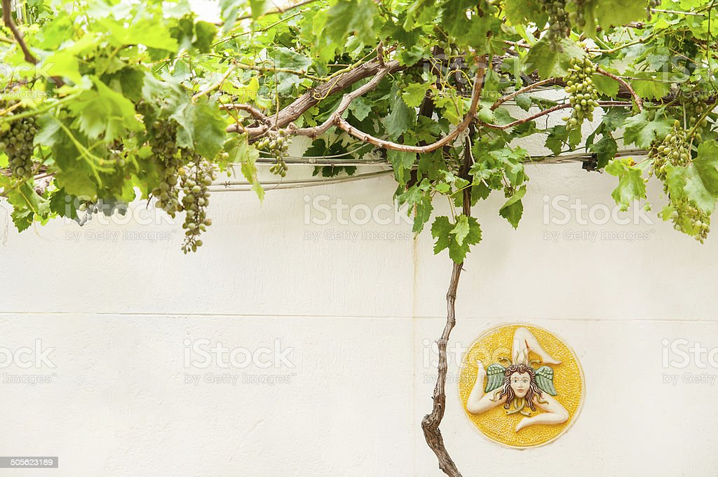 Triacride, symbol of Sicily stock photo