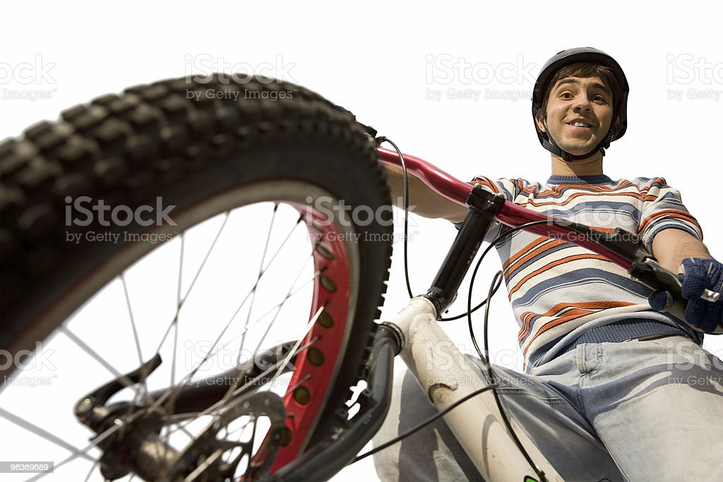 trial cyclist royalty-free stock photo