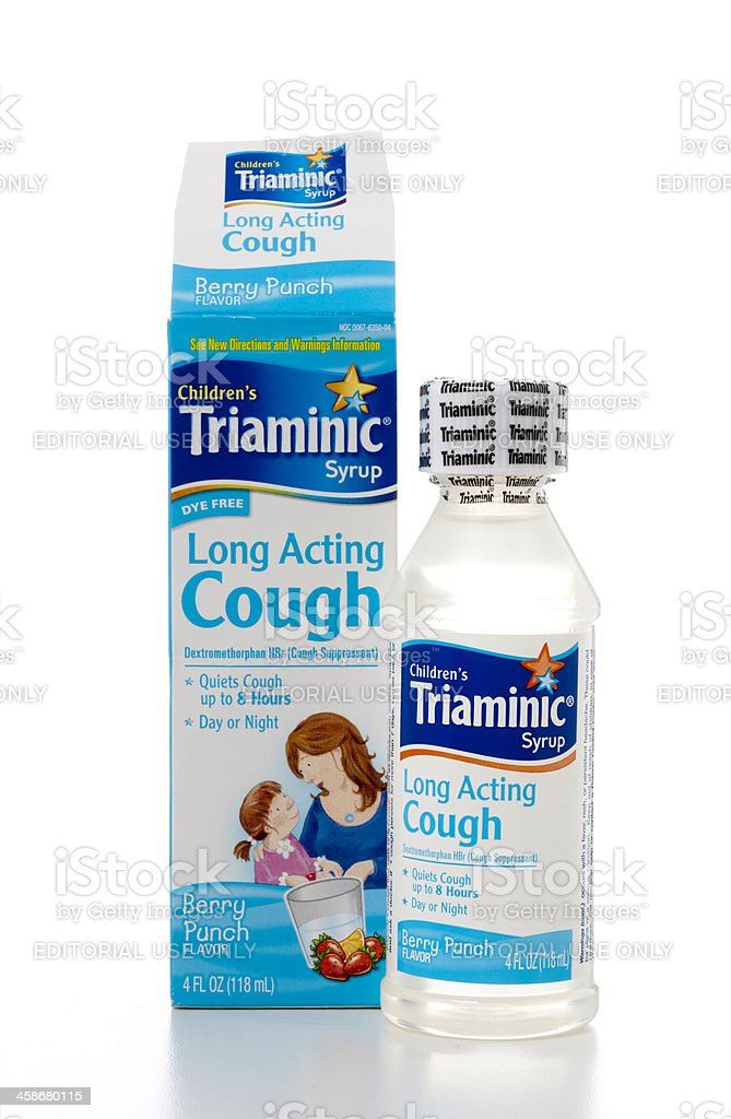 Triaminic Long Acting Cough stock photo