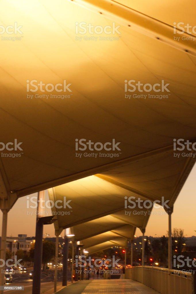 Triana bridge at sunset stock photo