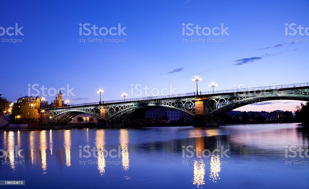 Triana Bridge stock photo