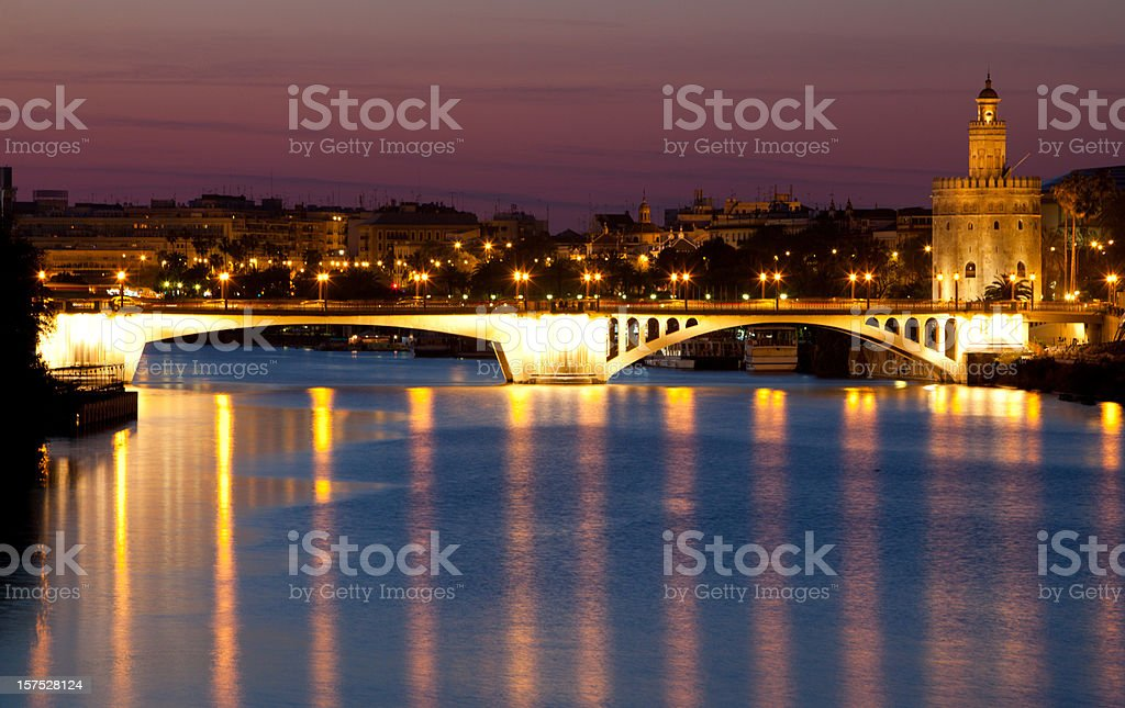 Triana Bridge royalty-free stock photo