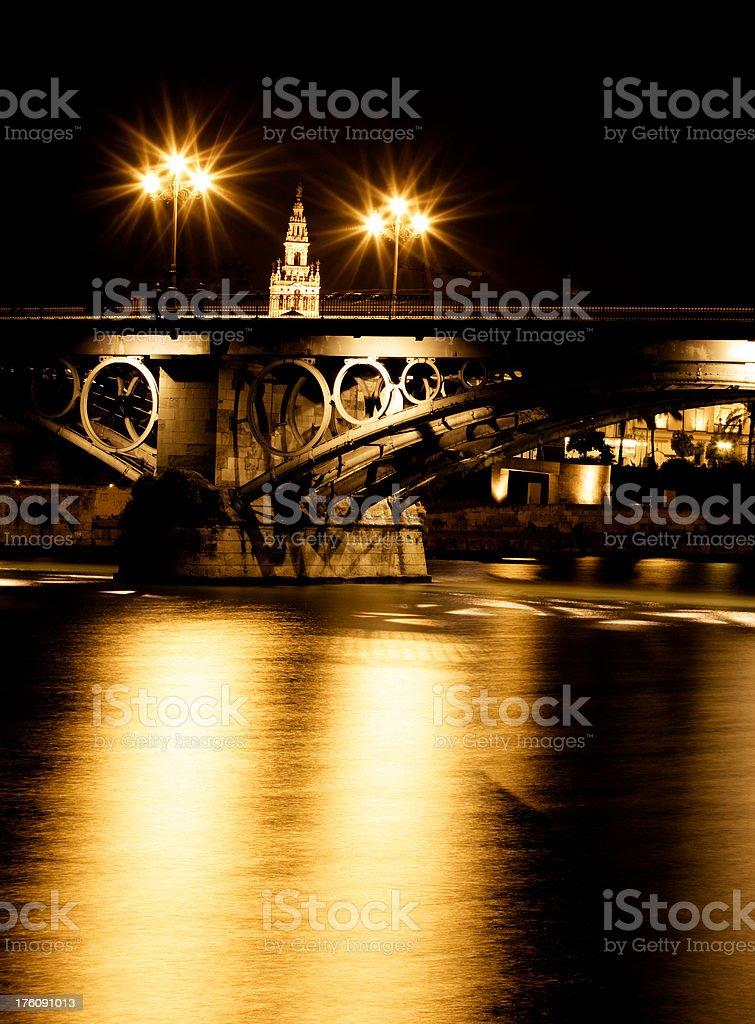 Triana Bridge royalty-free stock photo
