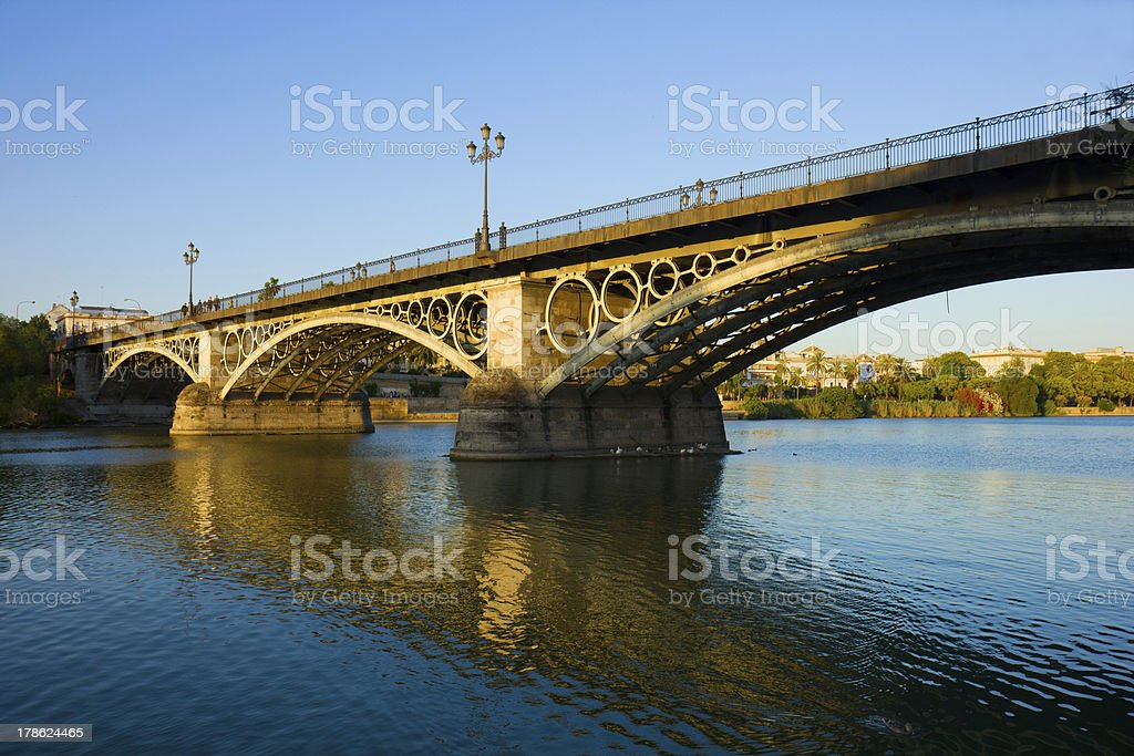 Triana Bridge, Seville, Spain royalty-free stock photo
