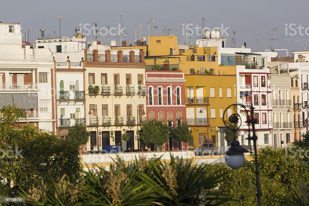 Triana in Seville, Spain stock photo