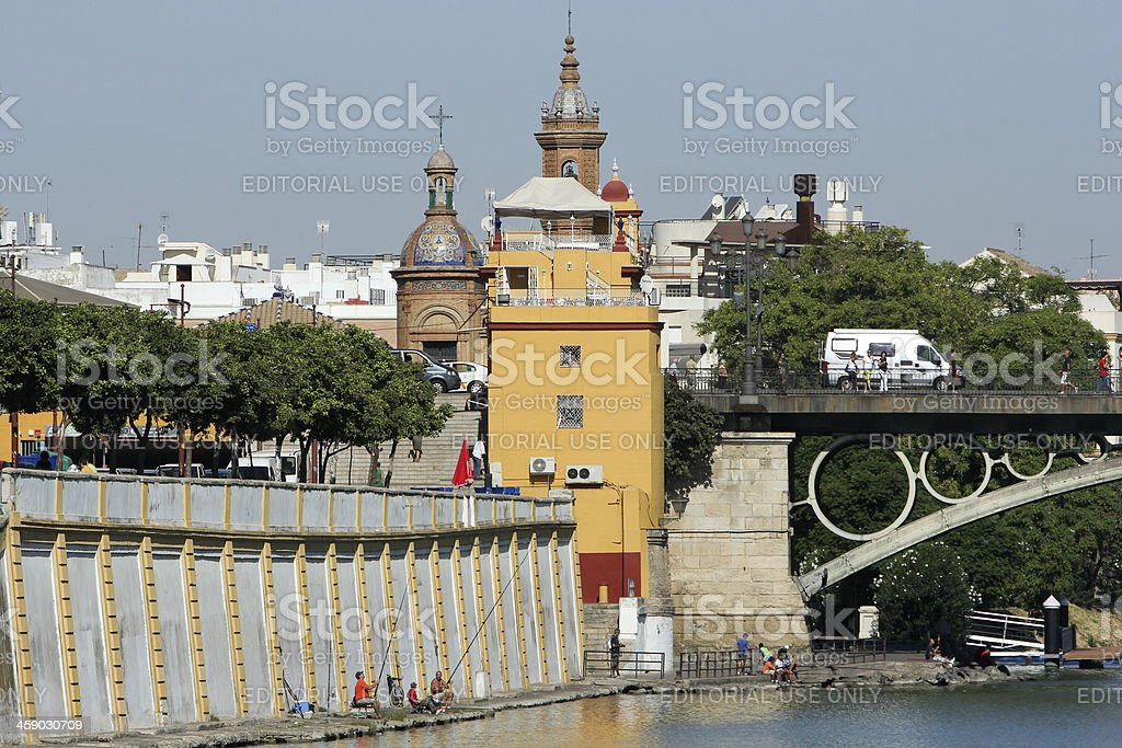 Triana in Seville, Spain royalty-free stock photo