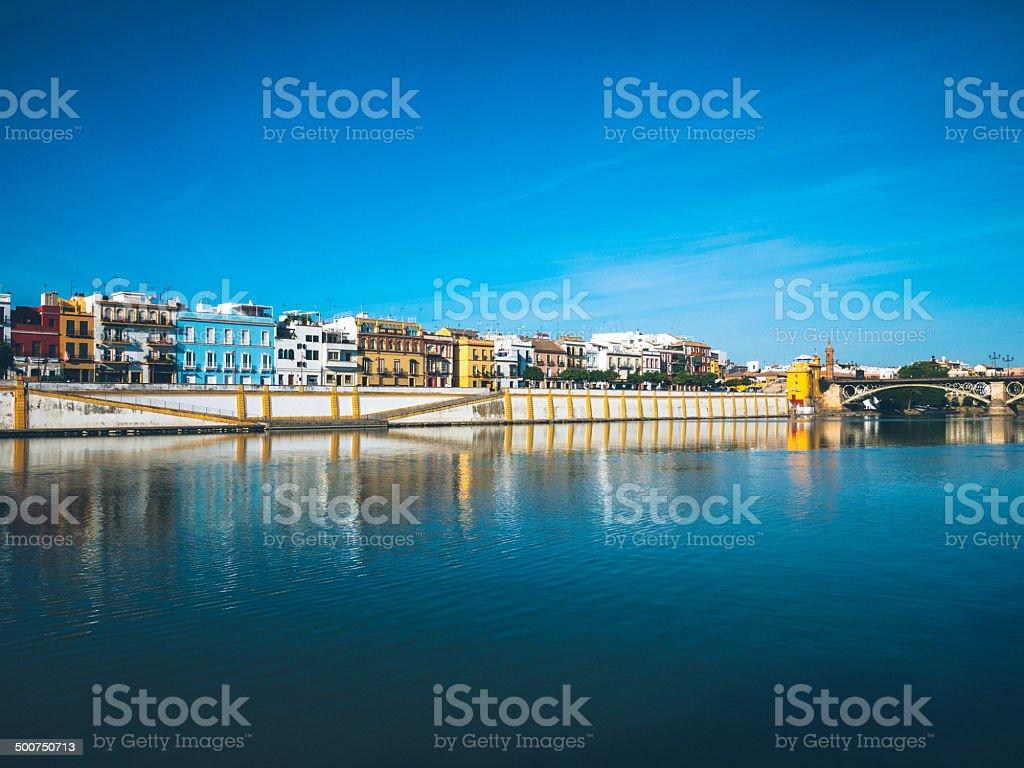 Triana Panorama, Sevilla stock photo