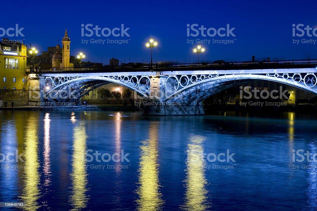 Triana's Bridge stock photo