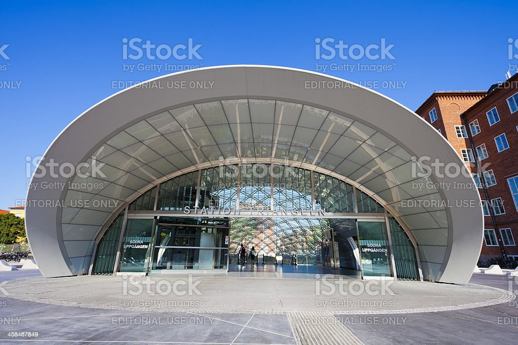 Triangeln railway station Malmo, Sweden royalty-free stock photo