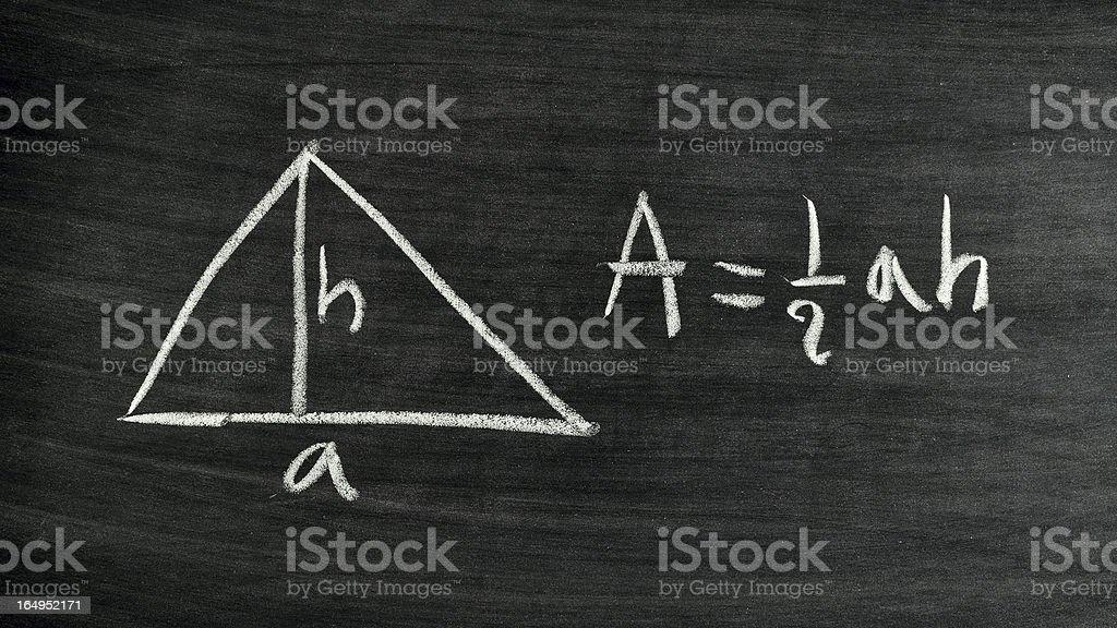 triangle area formula royalty-free stock photo