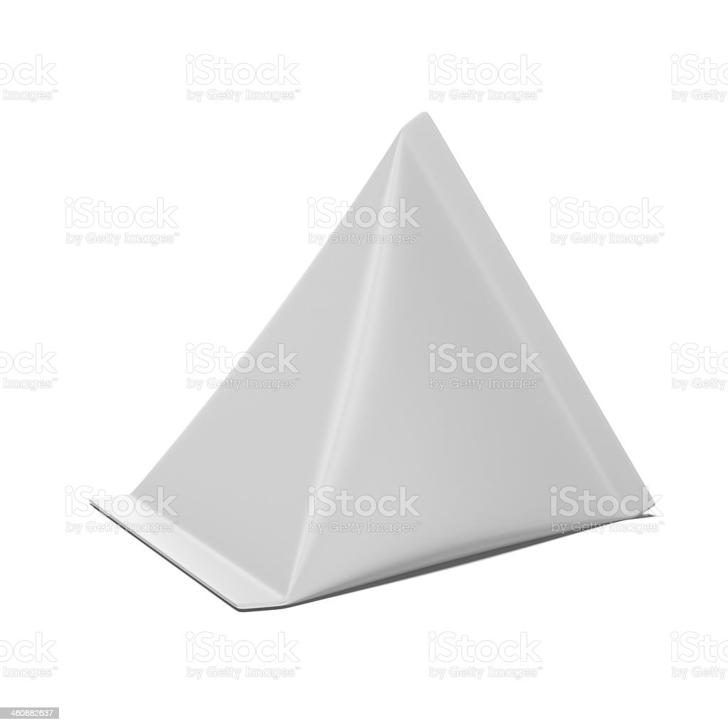 Triangle Carton package stock photo