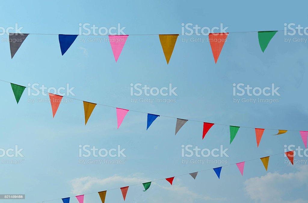 Triangle Color Flag stock photo