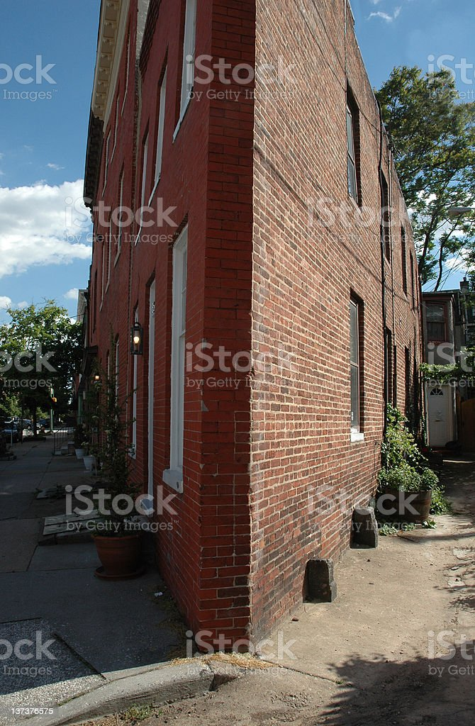 Triangle Flat Iron Shaped Urban House Unusual Architecture royalty-free stock photo