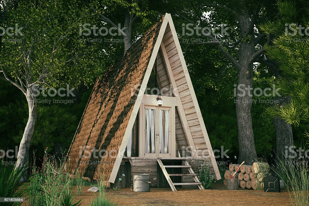 Triangle Forest House stock photo