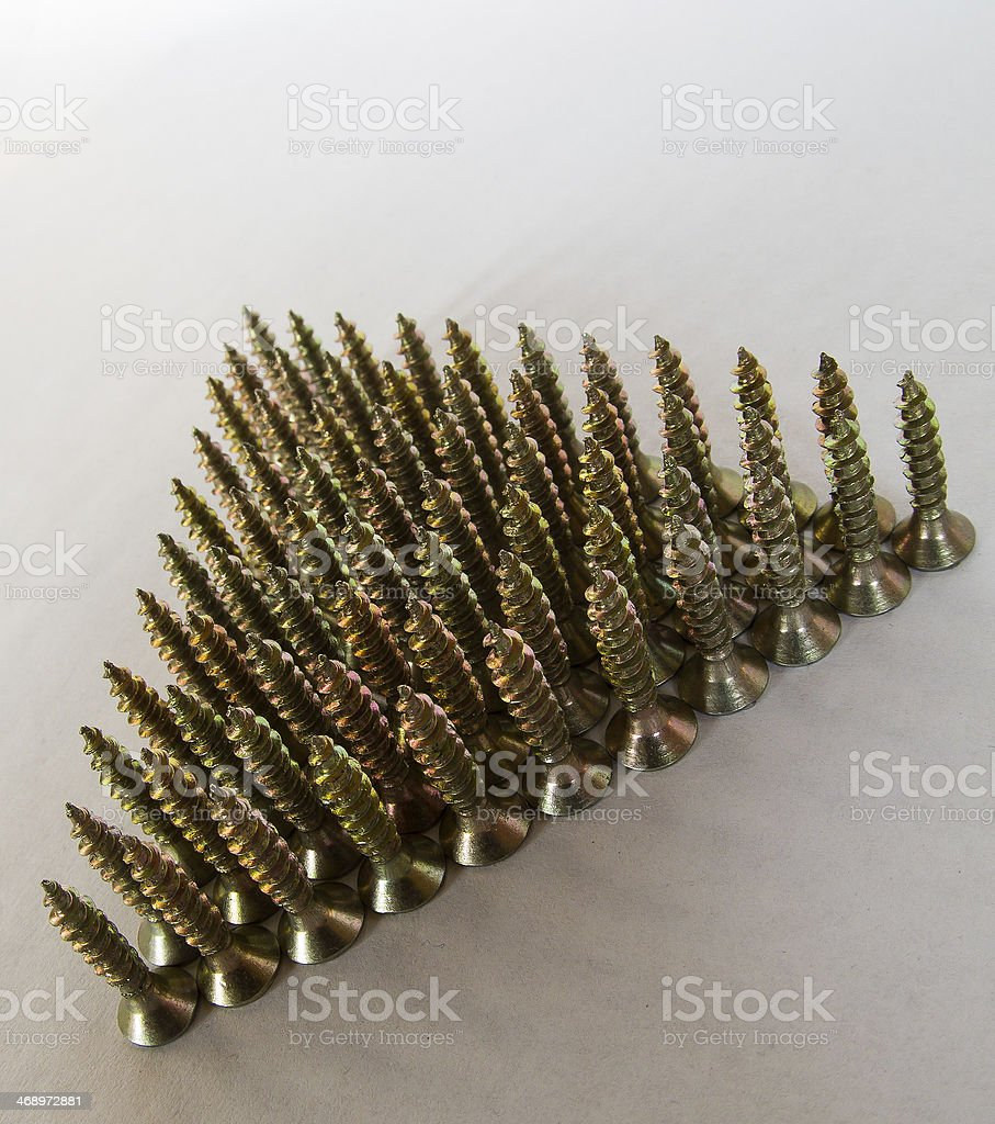 Triangle of screws royalty-free stock photo